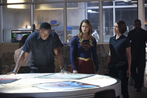 """""""Hostile Takeover"""" -- Kara goes toe-to-toe with Astra when her aunt challenges Kara's beliefs about her mother, on SUPERGIRL, Monday, Dec. 14 (8:00-9:00 PM, ET/PT) on the CBS Television Network. Pictured left to right: David Harewood, Melissa Benoist and Chyler Leigh Photo: Monty Brinton/CBS ©2015 CBS Broadcasting, Inc. All Rights Reserved"""