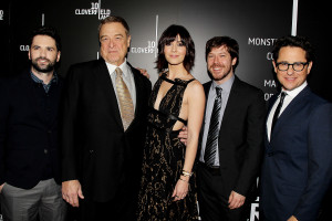 """EXCLUSIVE - New York, NY - 3/8/16 -Paramount Pictures Presents The Premiere of """"10 Cloverfield Lane"""" . the Film stars John Goodman, Mary Elizabeth Winstead, John Gallagher Jr .and was Produced by J.J. Abrams ,10 Cloverfield Lane will open nation wide on March 3rd 2016 ..-PICTURED: Dan Trachtenberg,John Goodman, Mary Elizabeth Winstead,John Gallagher Jr, J.J. Abrams.-PHOTO by: Dave Allocca/Starpix.-FILENAME: DA_16_3675.JPG.-LOCATION: AMC Loews Lincoln Square 13"""
