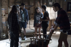 "DEAD OF SUMMER - ""The Dharma Bums"" - The counselors turn to drastic measures to get answers about the recent events happening at Camp Stillwater in ""The Dharma Bums,"" an all new episode of ""Dead of Summer,"" airing TUESDAY, AUGUST 2 (9:00 - 10:00 p.m. EDT) on Freeform (the new name for ABC Family). (Freeform/Katie Yu) ELI GOREE, PAULINA SINGER, MARK INDELICATO, RONEN RUBINSTEIN"
